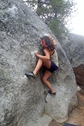 Rock Climbing Photo: Most painful move ever.(Jackie Trejo)