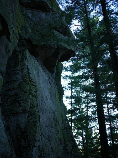 Rock Climbing Photo: New route on the north wall?  Right over the huge ...