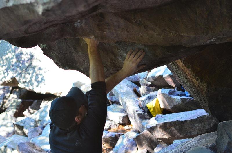 Rock Climbing Photo: Aaron at the start.