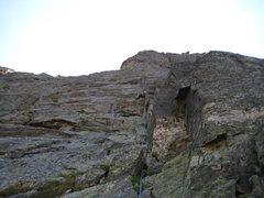 Rock Climbing Photo: Luke on the P1 corner.
