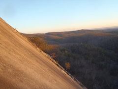 Rock Climbing Photo: Distant view of No Alternative at Stone Mountain.