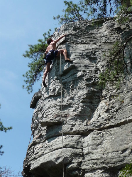 Rock Climbing Photo: Climbing at Pilot Mtn