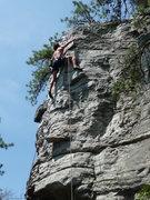 Rock Climbing Photo: Climbing at Pilot Mtn