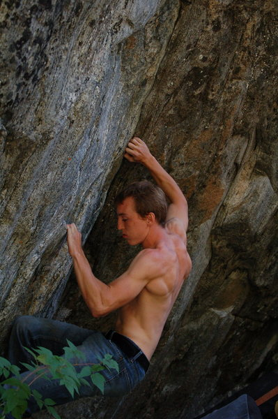 Ryan getting into the seam on Lava Lunge SDS
