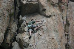 Rock Climbing Photo: Nathan Fitzhugh at the third clip