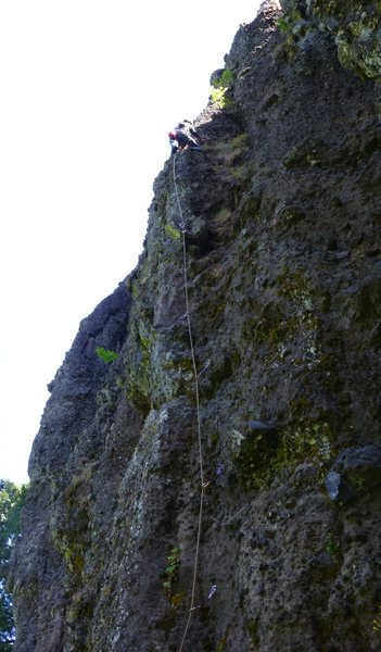 Rock Climbing Photo: Mark Canavan starting pitch one.