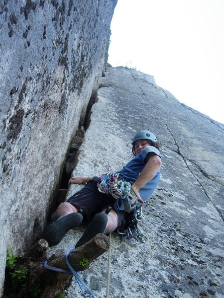 "Rock Climbing Photo: Beginning of p4. ""The Offwidth"""