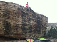 Rock Climbing Photo: Beta for Day of Small Things.