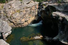 Rock Climbing Photo: Devil's Punchbowl. People also cliff jump off the ...