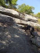 Rock Climbing Photo: Me on the start. Photo by Loran Smith