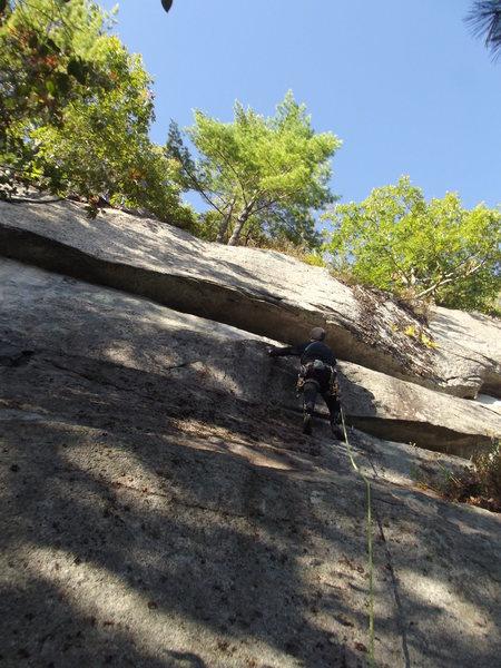 Rock Climbing Photo: At the crux. Photo by Loran
