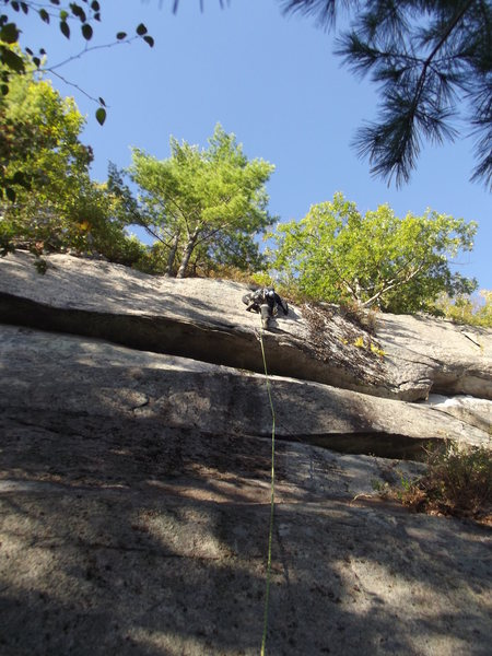 Rock Climbing Photo: Final moves. Photo by Loran