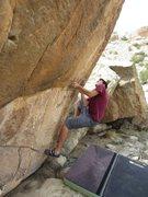 Rock Climbing Photo: working the arete