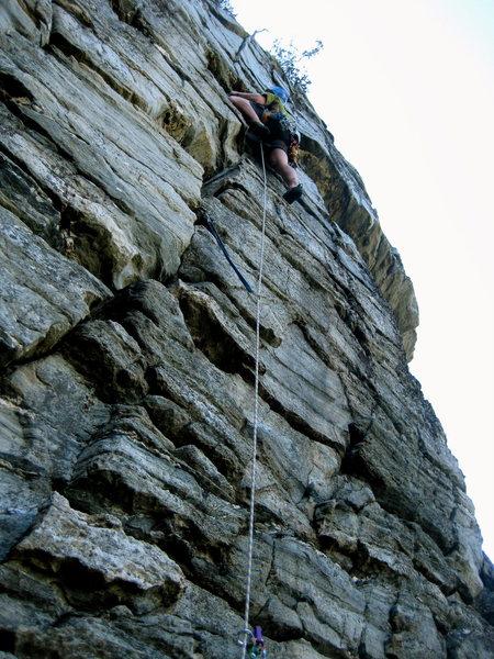 Rock Climbing Photo: Paddling up pitch 3!