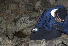 Rock Climbing Photo: Filling up water at the boulder field