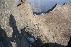 Rock Climbing Photo: from the top of the ledge where we roped up, looki...