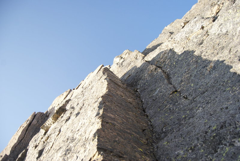 Rock Climbing Photo: 1st pitch dihedral