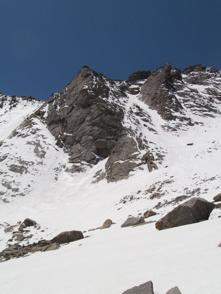 Rock Climbing Photo: June 2012, really bad snow year. The route makes f...