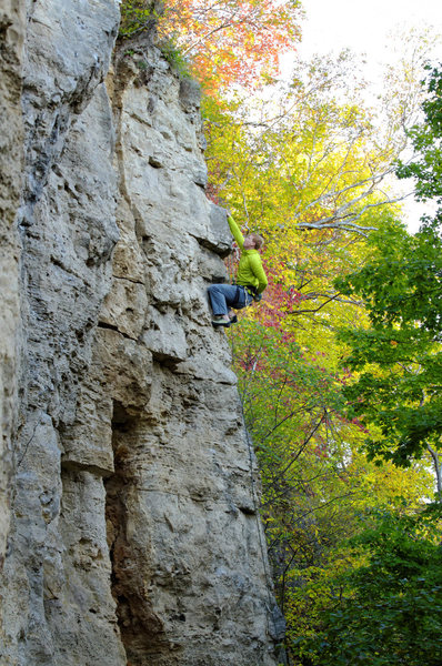 Rock Climbing Photo: Ted Kryzer on Cool for Cats. Sept, 2012.