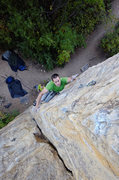 Rock Climbing Photo: Crux of Kelly's Arete. Nate Erickson. Sept, 2012.