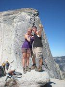 Rock Climbing Photo: Half Dome, Yosemite National Park with the girlfri...