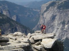 Rock Climbing Photo: On top of Half Dome, Yosemite National Park. No Ha...