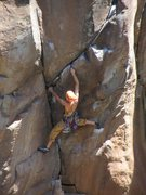Rock Climbing Photo: black metolious, purple metolious, then go....