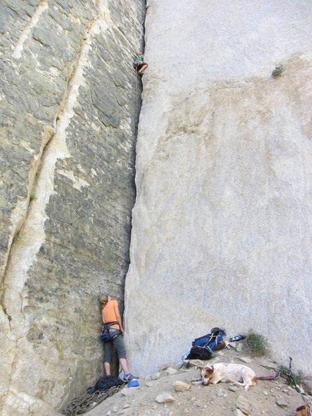 Rock Climbing Photo: HMo and Lulu on the belay