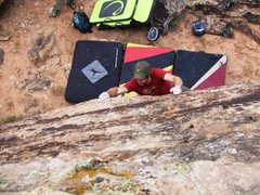 Rock Climbing Photo: Brad clawing his way up Day of Small Things on the...
