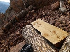 Rock Climbing Photo: Thanks to whomever put in the new bench at the bas...