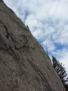 Rock Climbing Photo: Me on Backbone Arete.  Super fun with balancy move...