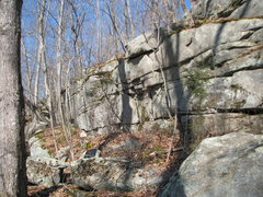 Rock Climbing Photo: The middle and left side of The Long Wall