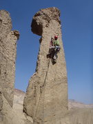 Rock Climbing Photo: Me on possibly the 2nd ascent.