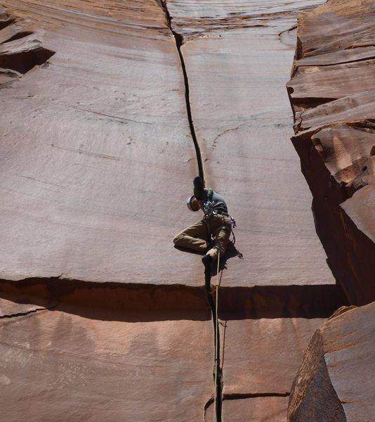Rock Climbing Photo: Me on Supercrack