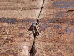Rock Climbing Photo: Me on Generic Crack