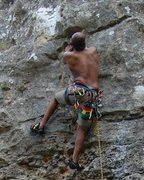 Rock Climbing Photo: On a route at Monster Rock. Good times. At this po...