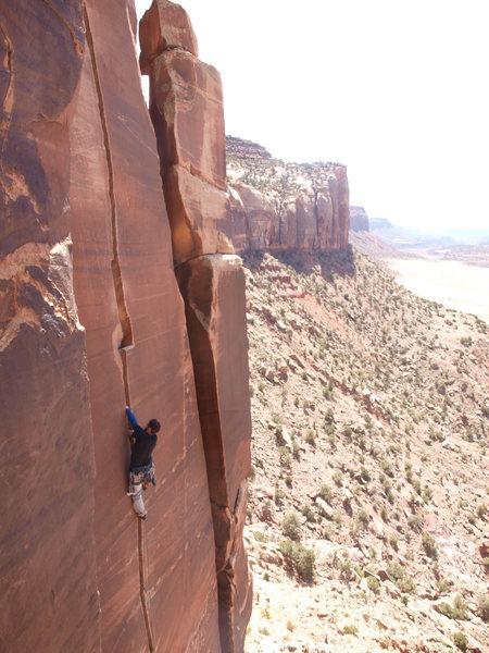 Rock Climbing Photo: Pal on Blue Sun