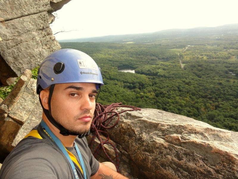 Rock Climbing Photo: Top of Pitch 2, Beginner's Delight, Gunks
