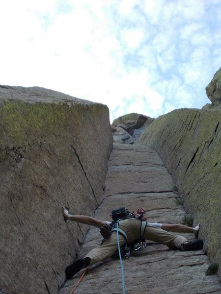 Rock Climbing Photo: My lead on El Matador, Devils Tower