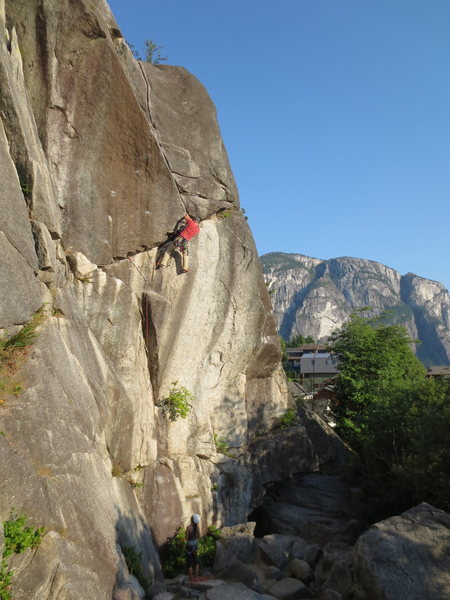 Rock Climbing Photo: Me on Neat and Cool with the Chief in the backgrou...