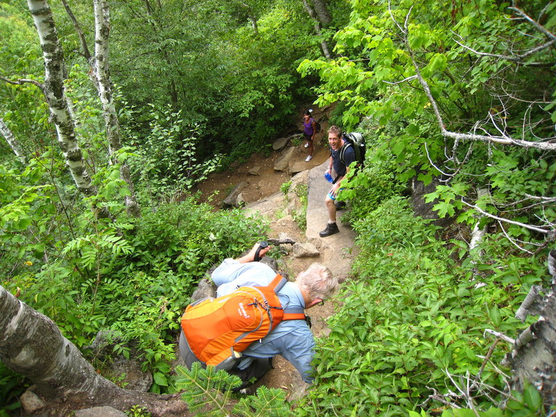 Rock Climbing Photo: Pitchoff decent...Long trail into foot then steep ...