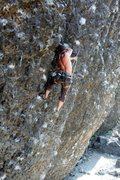 Rock Climbing Photo: Deep Creek, WA Naked Man 12a