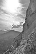 Rock Climbing Photo: my buddy kris going up at jurassic park, estes par...