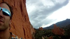 Rock Climbing Photo: chillin on a multi-pitch route @ Garden of the God...