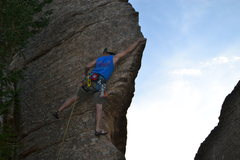 Rock Climbing Photo: my friend Kris making a move, Estes Park Colorado
