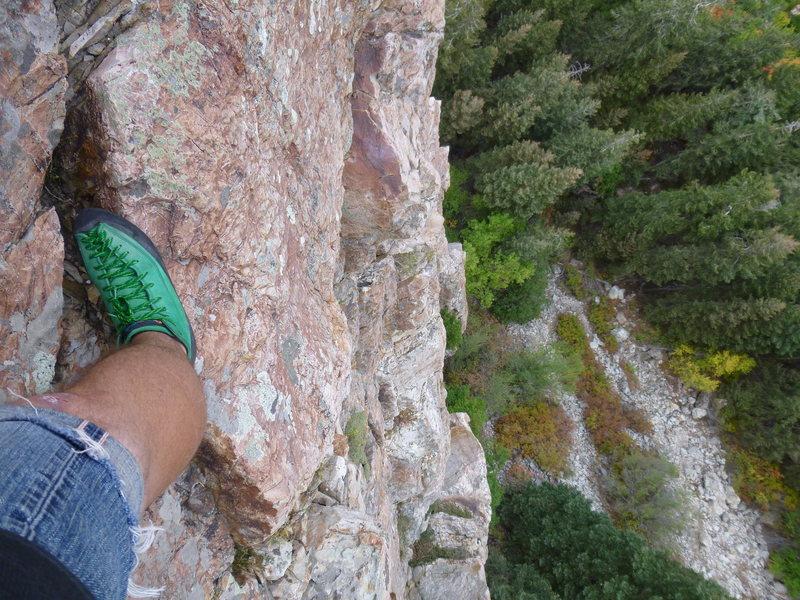 A look down on Steorts Ridge