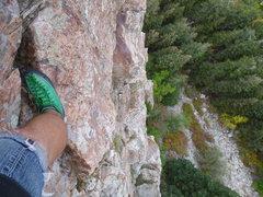Rock Climbing Photo: A look down on Steorts Ridge