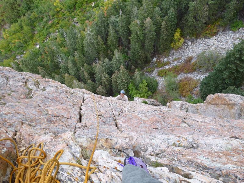 Rock Climbing Photo: Over the ledge...