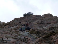 Rock Climbing Photo: Leading somewhere near the Jig is Up/Steorts Ridge