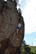 Rock Climbing Photo: Phillip climbing finger crack.